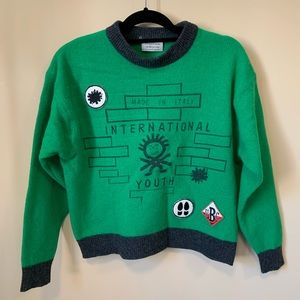 United colors of Benetton wool blend crop sweater